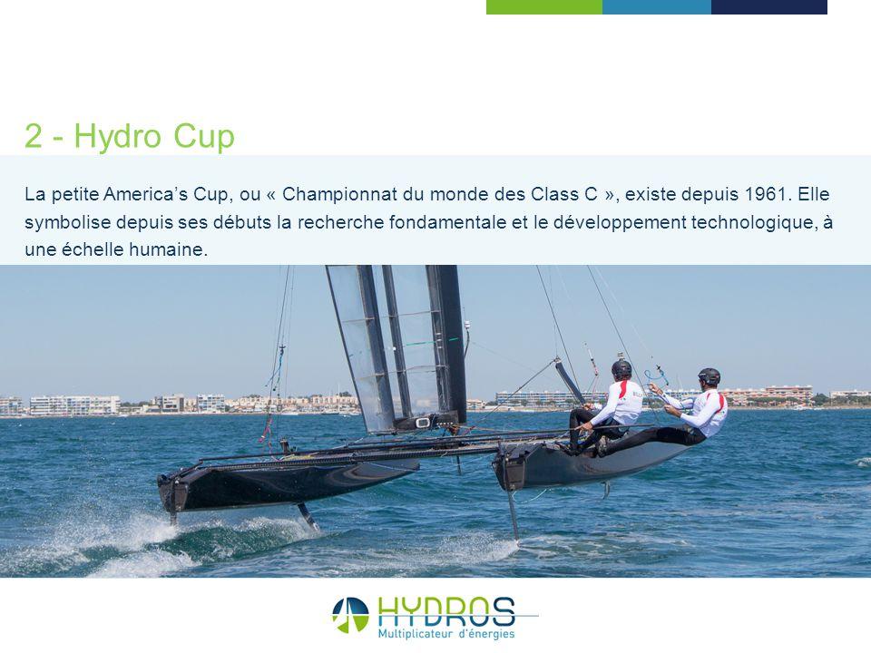 2 - Hydro Cup La petite Americas Cup, ou « Championnat du monde des Class C », existe depuis 1961. Elle symbolise depuis ses débuts la recherche fonda