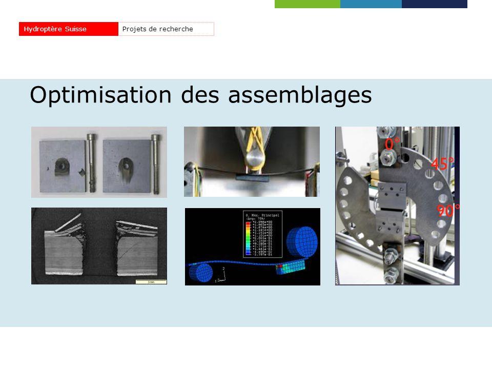 Optimisation des assemblages Projets de rechercheHydroptère Suisse
