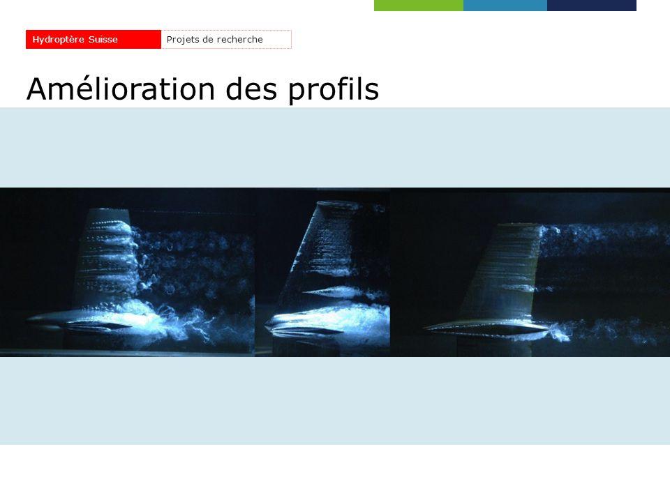 Amélioration des profils Projets de rechercheHydroptère Suisse