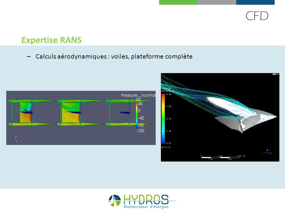 CFD Expertise RANS –Calculs aérodynamiques : voiles, plateforme complète