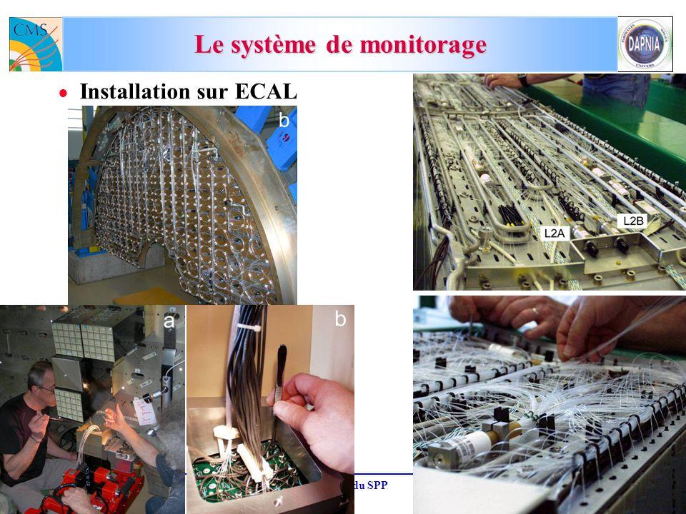 M.D. 19-octobre-2007CSTS du SPP17 Le système de monitorage Installation sur ECAL