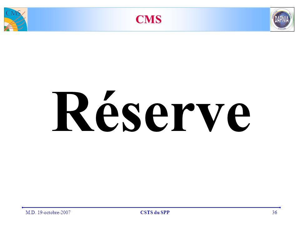 M.D. 19-octobre-2007CSTS du SPP36 CMS Réserve
