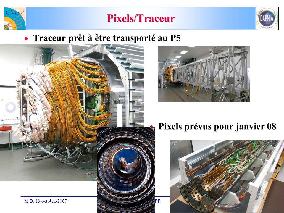 M.D. 19-octobre-2007CSTS du SPP5 Pixels/Traceur Traceur prêt à être transporté au P5 Pixels prévus pour janvier 08