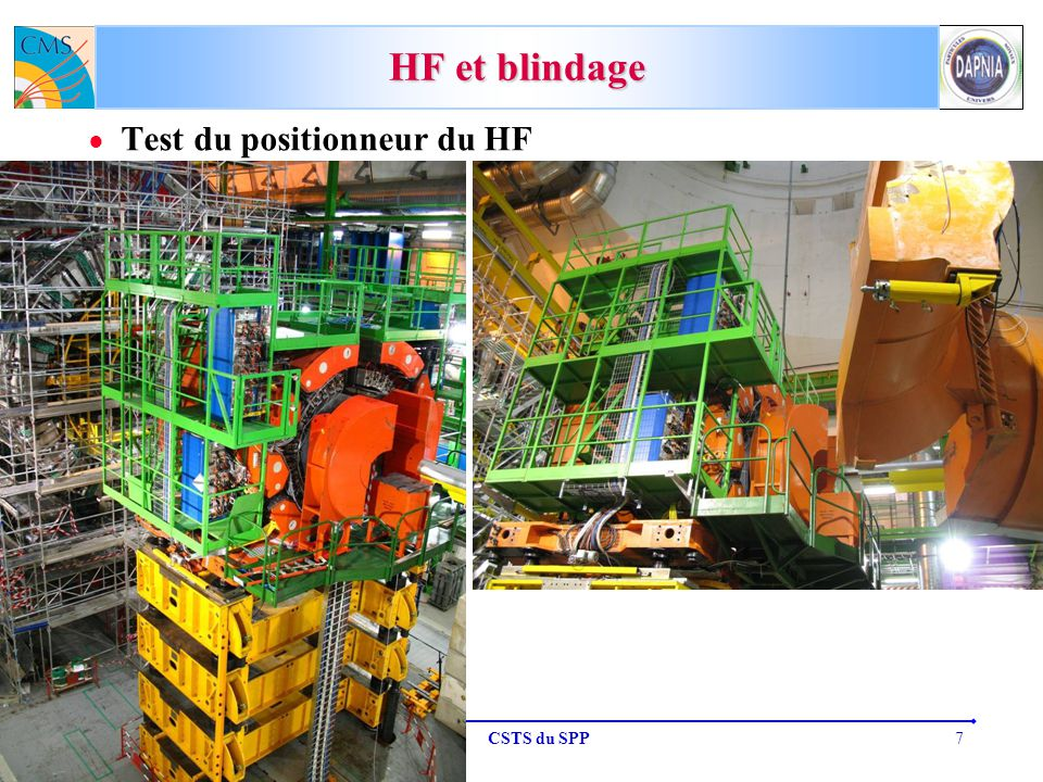 M.D. 19-octobre-2007CSTS du SPP7 HF et blindage Test du positionneur du HF