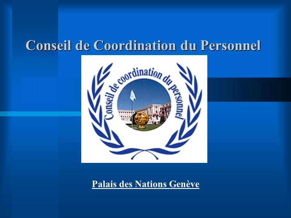 Conseil de Coordination du Personnel Palais des Nations Genève