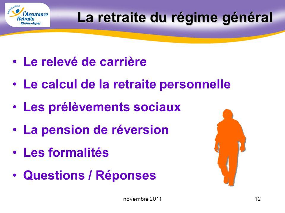 11novembre 2011 50 ans dexpérience pour vous informer LAssurance Retraite Rhône-Alpes : Un seul numéro 3960* (prix dun appel local) Un seul numéro 396