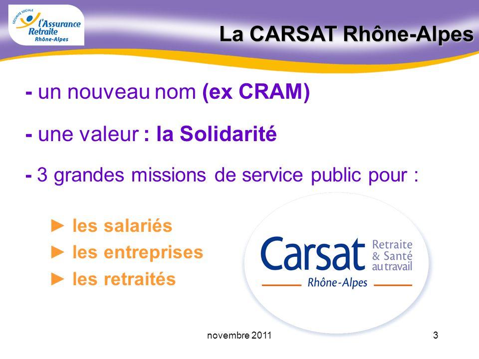 2novembre 2011 Martine ALBESSARD malbessard@carsatra.fr La Retraite du Régime Général