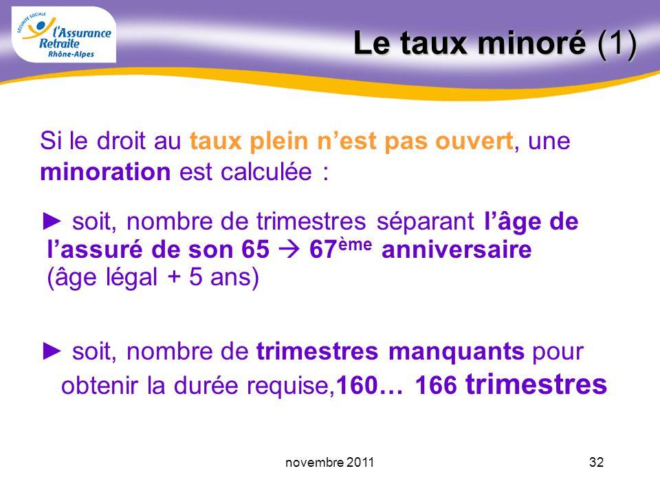 31novembre 2011 Les trimestres à retenir pour le taux Trimestres du régime général - trimestres dassurance - périodes assimilées - trimestres VPLR - p