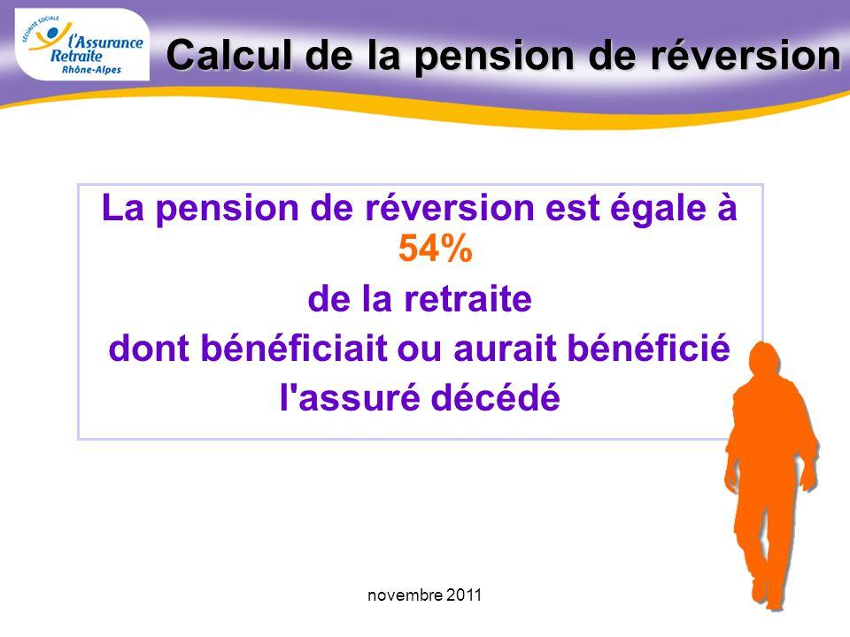 57novembre 2011 Condition d'âge remplieDate deffet de la PR 1 er jour du mois suivant la demande Avant la demande 1 er jour du mois suivant lanniversa