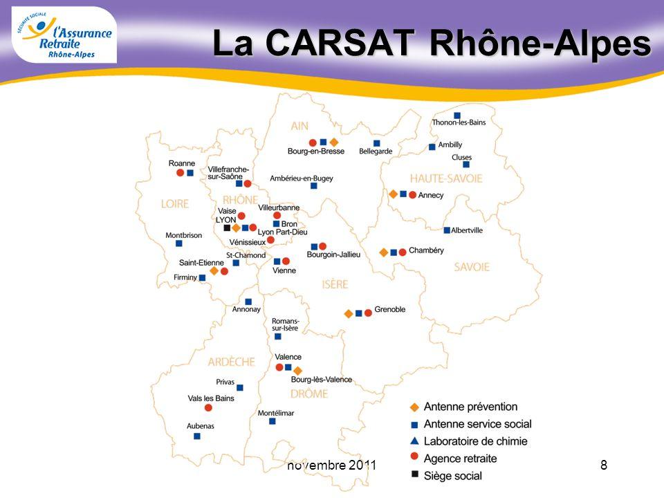 7novembre 2011 1960 1985 2010 4,14 2,21 1,80 Rapport Cotisants / Retraités