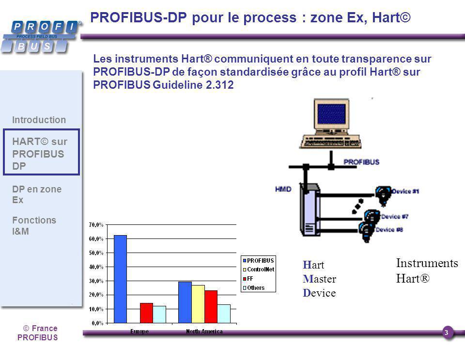©France PROFIBUS 3 Introduction HART© sur PROFIBUS DP DP en zone Ex Fonctions I&M Les instruments Hart® communiquent en toute transparence sur PROFIBU