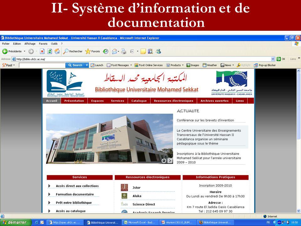 Site web II- Système dinformation et de documentation