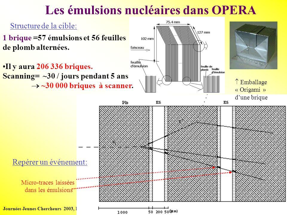 Journées Jeunes Chercheurs 2003, La Roche-en-Ardennes - 4 /16 - Perrine Royole-Degieux table de scan à Lyon Caméra CCD Objectif à huile Table XY Émulsion Source lumière + condenseur