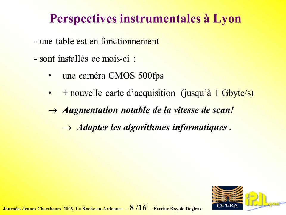 Journées Jeunes Chercheurs 2003, La Roche-en-Ardennes - 19 /16 - Perrine Royole-Degieux Simulation: pions de 200 MeV