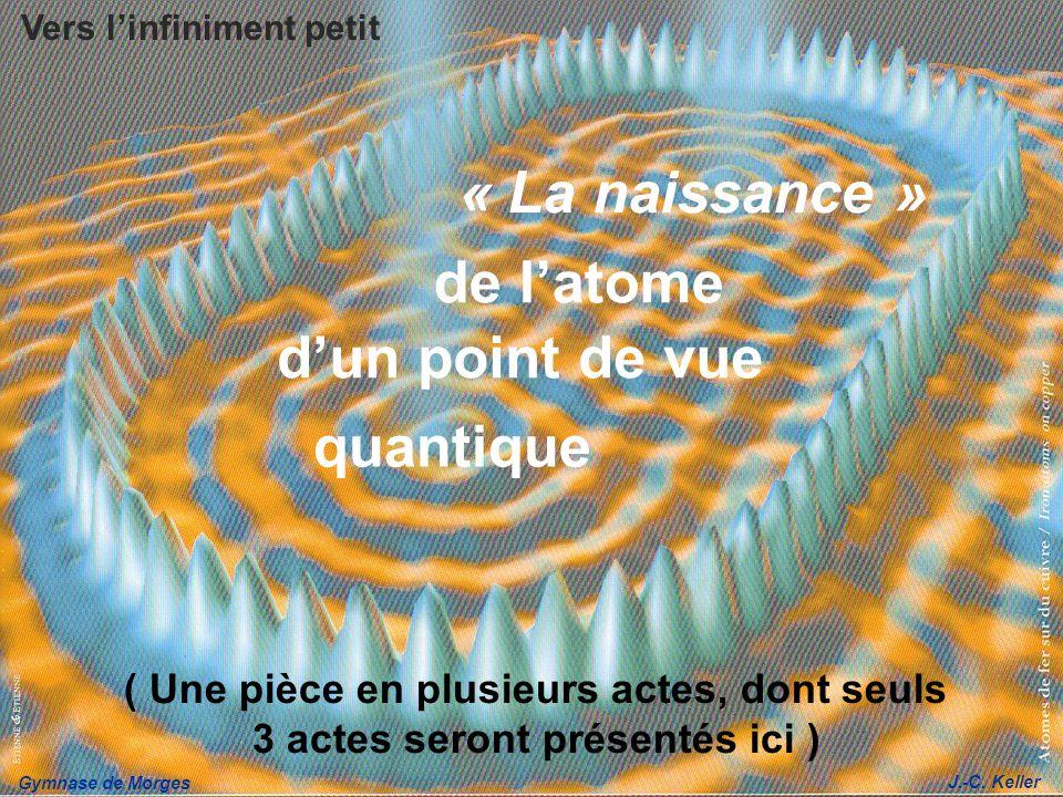 Gymnase de Morges J.-C. Keller dun point de vue quantique « La naissance » de latome ( Une pièce en plusieurs actes, dont seuls 3 actes seront présent