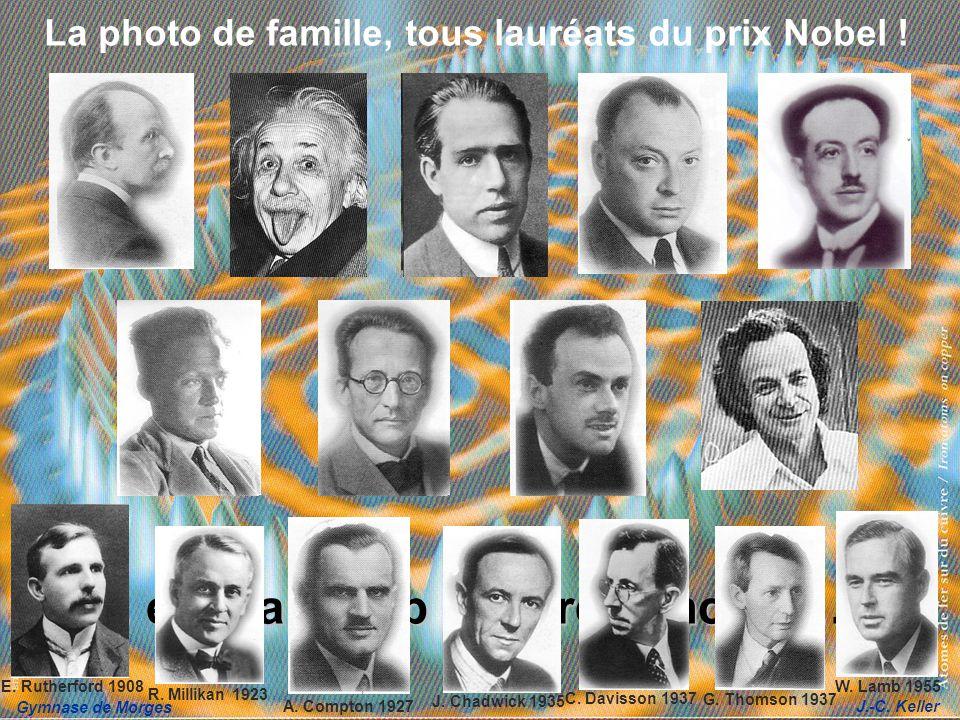 Gymnase de Morges J.-C. Keller La photo de famille, tous lauréats du prix Nobel ! … et beaucoup dautres encore … ! J. Chadwick 1935 C. Davisson 1937 G