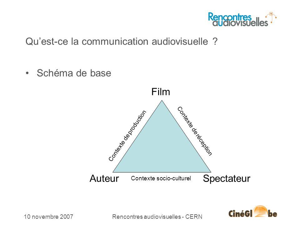 14 10 novembre 2007Rencontres audiovisuelles - CERN Exemple de montage hypersimple et efficace 14