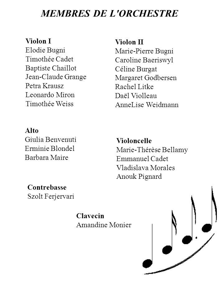 Symphonie n°6 Allegro - Adagio - Presto G.TORELLI Gentle Morpheus, son of night (Alceste) G.F.