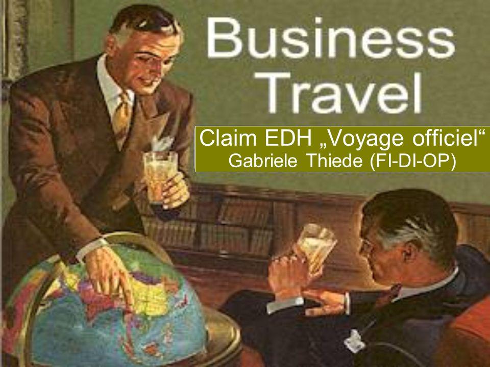Claim EDH Voyage officiel Gabriele Thiede (FI-DI-OP)