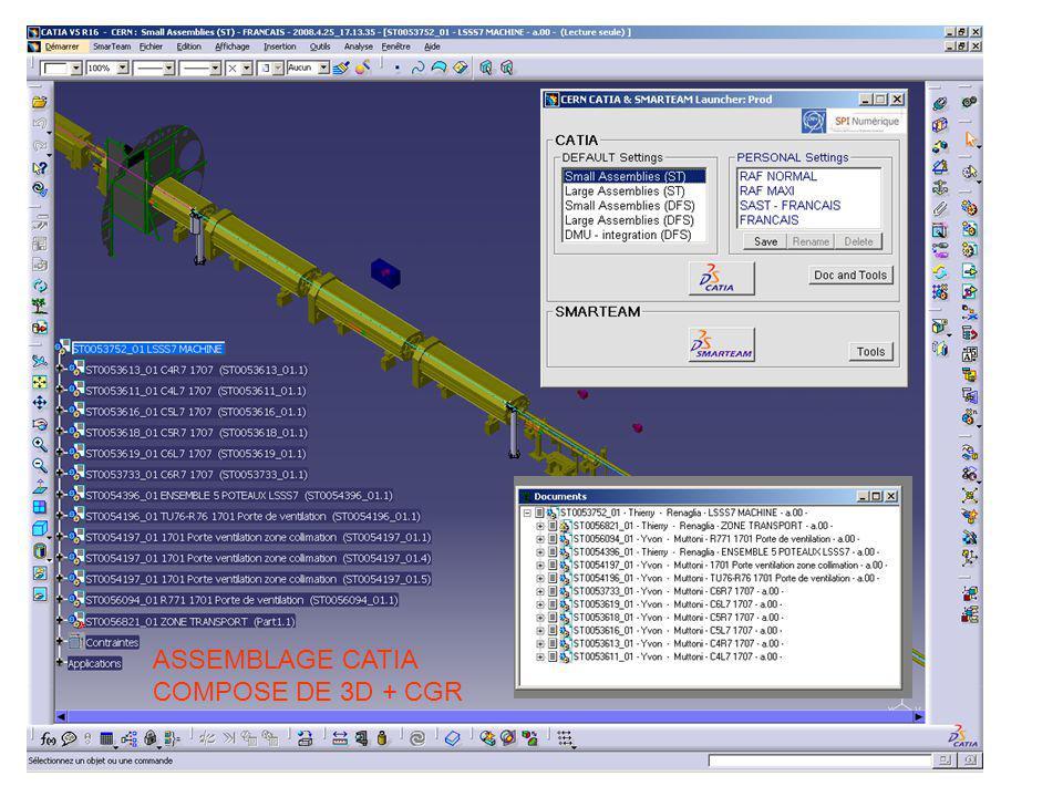 ASSEMBLAGE CATIA COMPOSE DE 3D + CGR