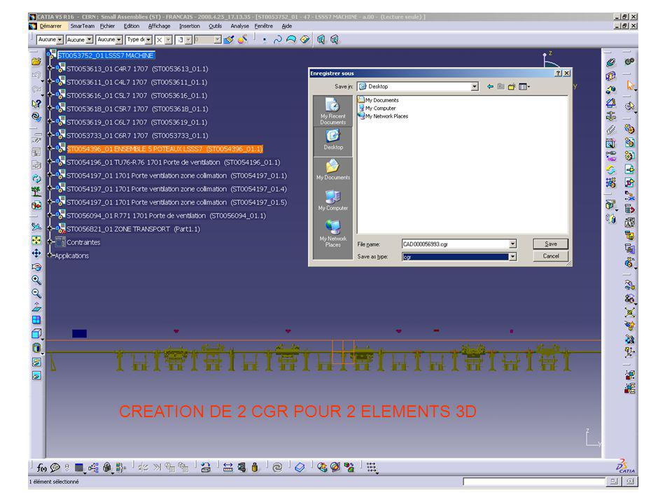 CREATION DE 2 CGR POUR 2 ELEMENTS 3D