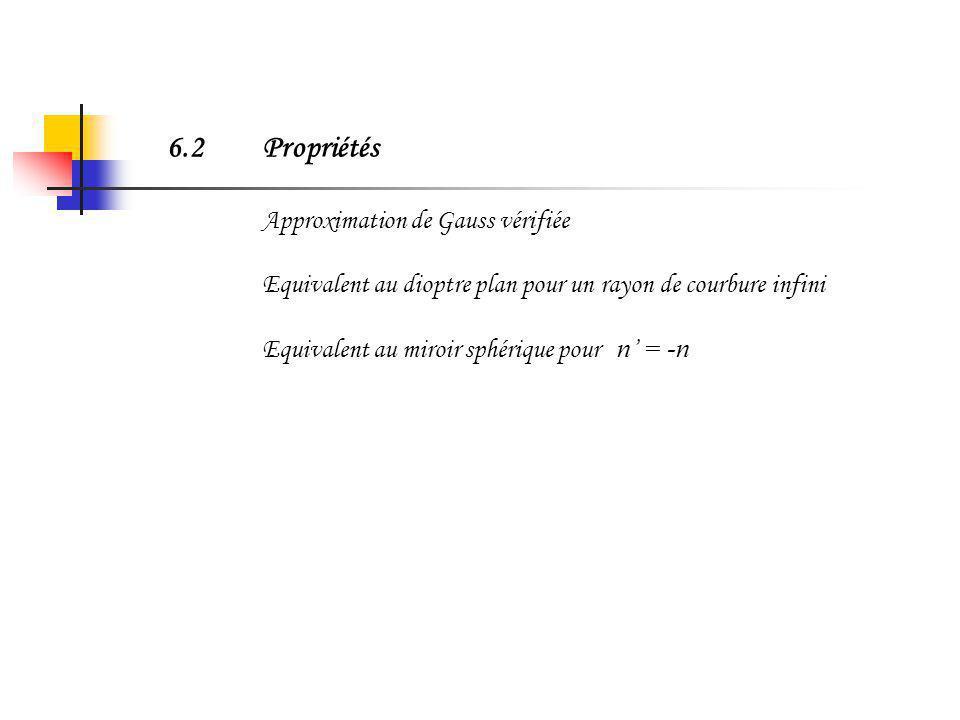 6.1Intérêt des systèmes optiques sphériques: dispositifs très largement utilisés (loupe, jumelles, objectif photographique, …) dispositifs assez facil