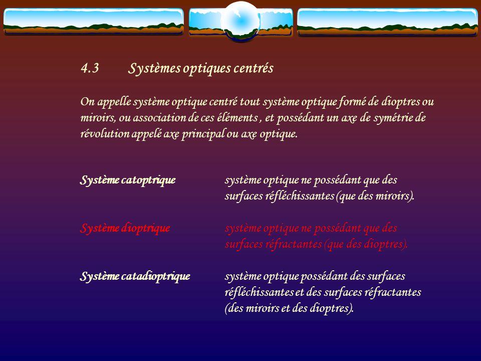 4.2Rayons et faisceaux de rayons On définit plusieurs types de faisceaux : faisceau divergent faisceau convergent faisceau parallèle