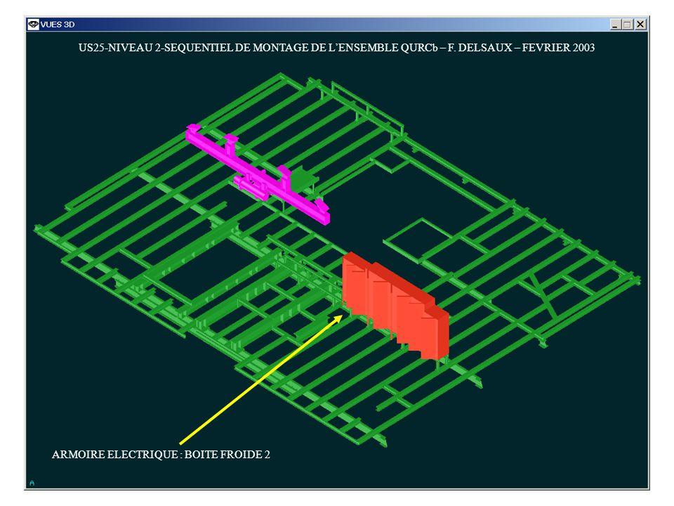 US25-NIVEAU 2-SEQUENTIEL DE MONTAGE DE LENSEMBLE QURCb – F. DELSAUX – FEVRIER 2003 ARMOIRE ELECTRIQUE : BOITE FROIDE 2