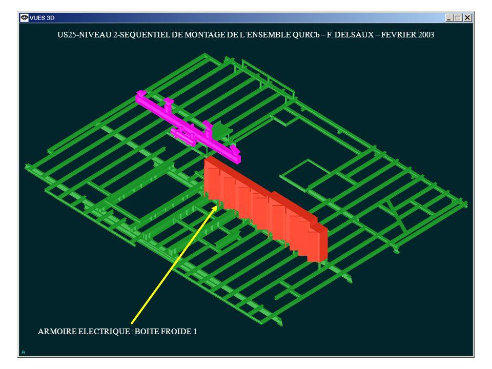 US25-NIVEAU 2-SEQUENTIEL DE MONTAGE DE LENSEMBLE QURCb – F. DELSAUX – FEVRIER 2003 ARMOIRE ELECTRIQUE : BOITE FROIDE 1