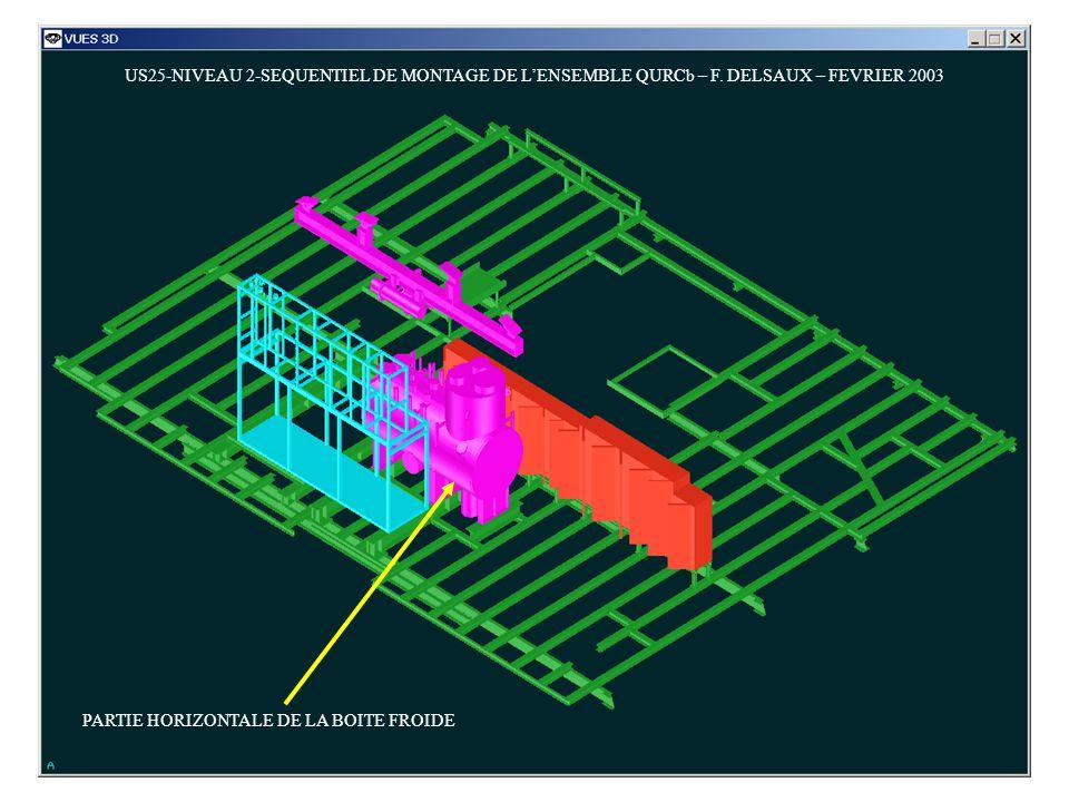 US25-NIVEAU 2-SEQUENTIEL DE MONTAGE DE LENSEMBLE QURCb – F. DELSAUX – FEVRIER 2003 PARTIE HORIZONTALE DE LA BOITE FROIDE