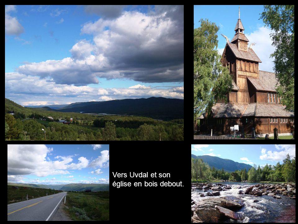 Vers Uvdal et son église en bois debout.