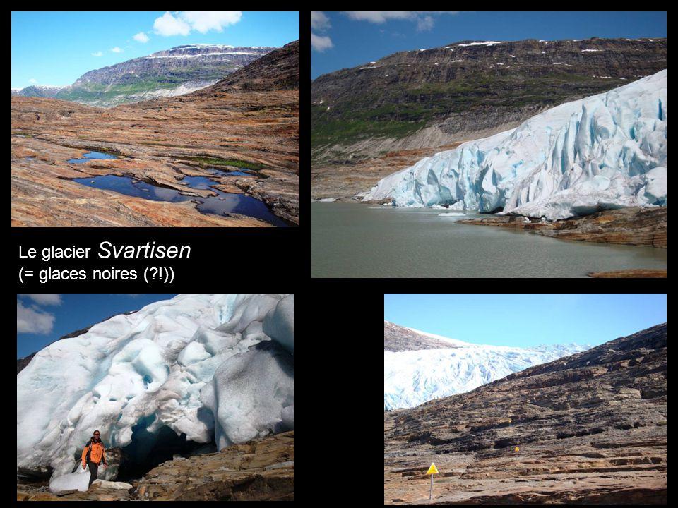 Le glacier Svartisen (= glaces noires ( !))