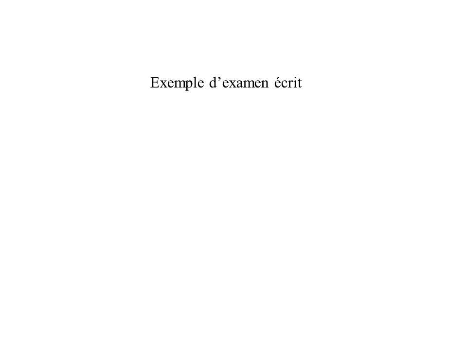 Exemple dexamen écrit