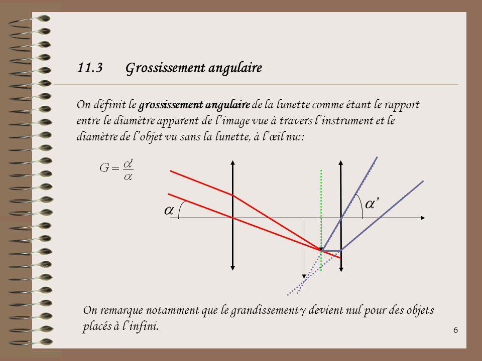 36 La profondeur de champ est donc augmentée en agissant sur les paramètres suivant: Augmenter la taille des grains (choisir un film très sensible) Augmenter le nombre douverture NO Diminuer la distance focale de lobjectif Exemple: Pour un film de taille de grains de 100 m, pour un NO donné de 8 et un objectif de 50 mm, alors si lobjet est placé à 5 m, la profondeur de champ est de 16 m (champ compris entre 1.7 m et 17.7 m).