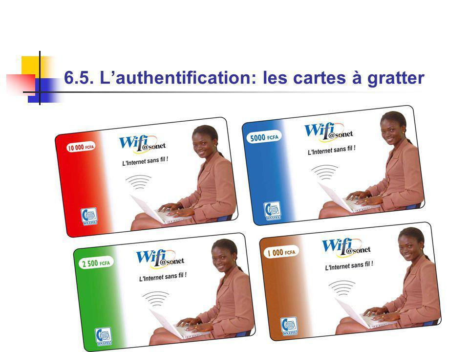 6.5. Lauthentification: les cartes à gratter