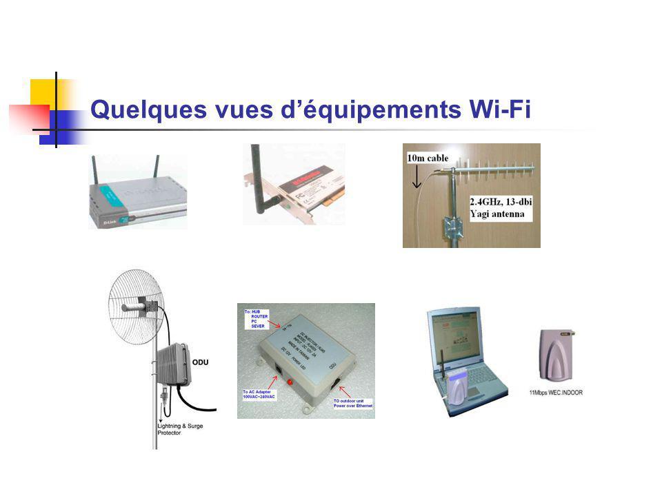 Quelques vues déquipements Wi-Fi
