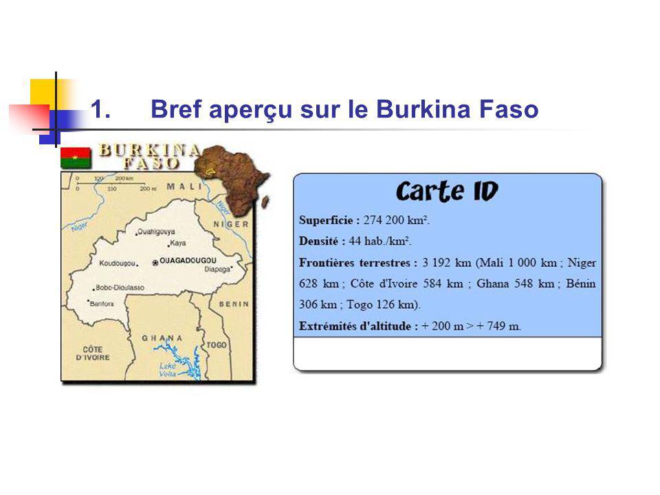 1.Bref aperçu sur le Burkina Faso