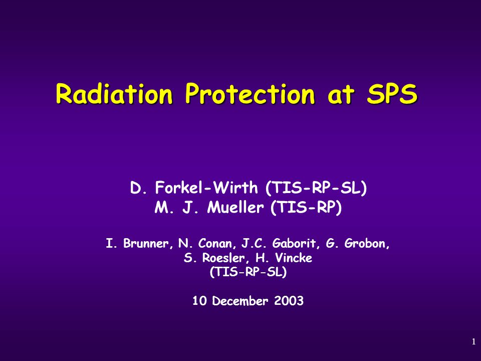 22 SPS5 Future Options & Outlook CERNTIS – RP 10.12.2003 Shielding improvements are necessary to assure radiation protection limits for future experimental installations (e.g.: roman pots, LHC collimator tests during 2004) Access to elevator and spiral staircase shafts have to be controlled – not at least, because of the given problem on two interlinked fronts: decreasing dose limits on one hand side and rising design source intensities on the other.