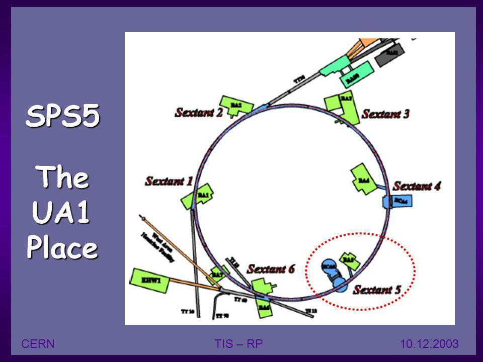 17 SPS5 The UA1 Place CERNTIS – RP 10.12.2003