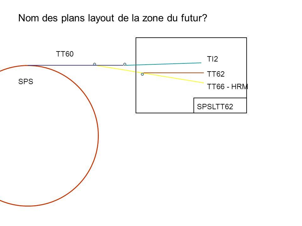 TI2 TT62 TT66 - HRM TT60 SPS SPSLTT62 Nom des plans layout de la zone du futur