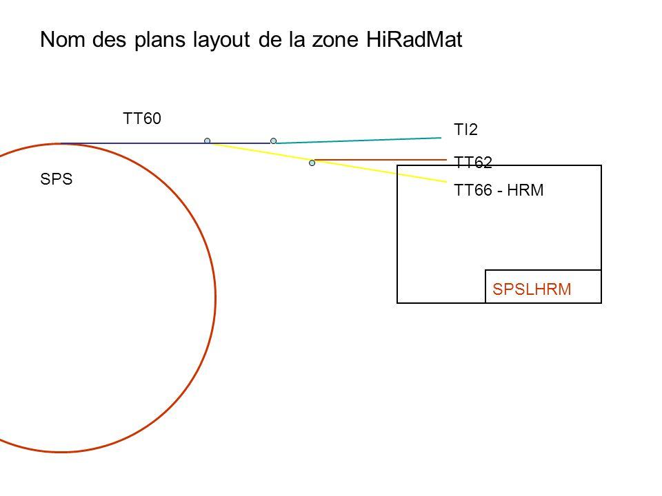 TI2 TT62 TT66 - HRM TT60 SPS SPSLHRM Nom des plans layout de la zone HiRadMat