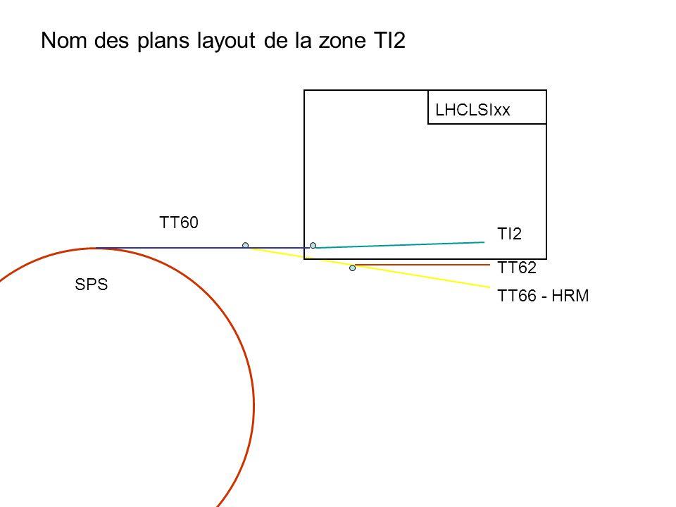 TI2 TT62 TT66 - HRM TT60 SPS LHCLSIxx Nom des plans layout de la zone TI2