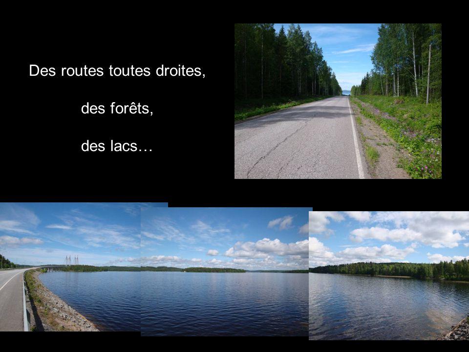 Des routes toutes droites, des forêts, des lacs…