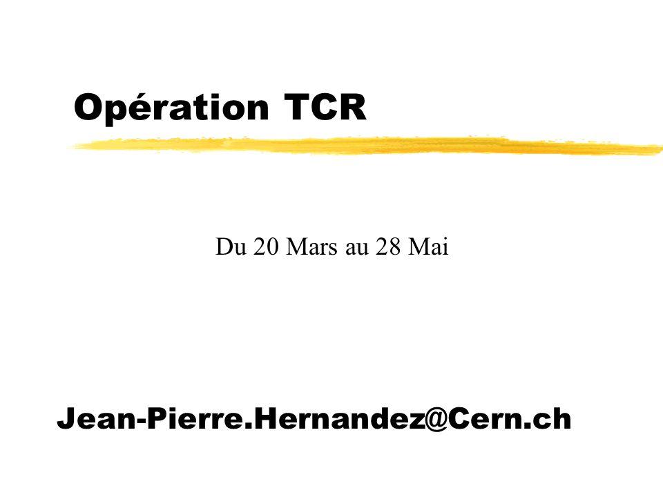 Opération TCR z28 Mars 17h52 - 19h10 yAlarme tableau GS 3.3kV au lep 4 xManque 230V EKD 104 (alimentation services généraux Cryogénie).