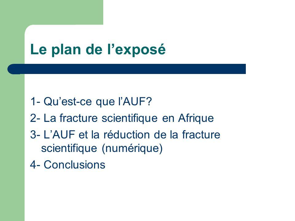 Le plan de lexposé 1- Quest-ce que lAUF.