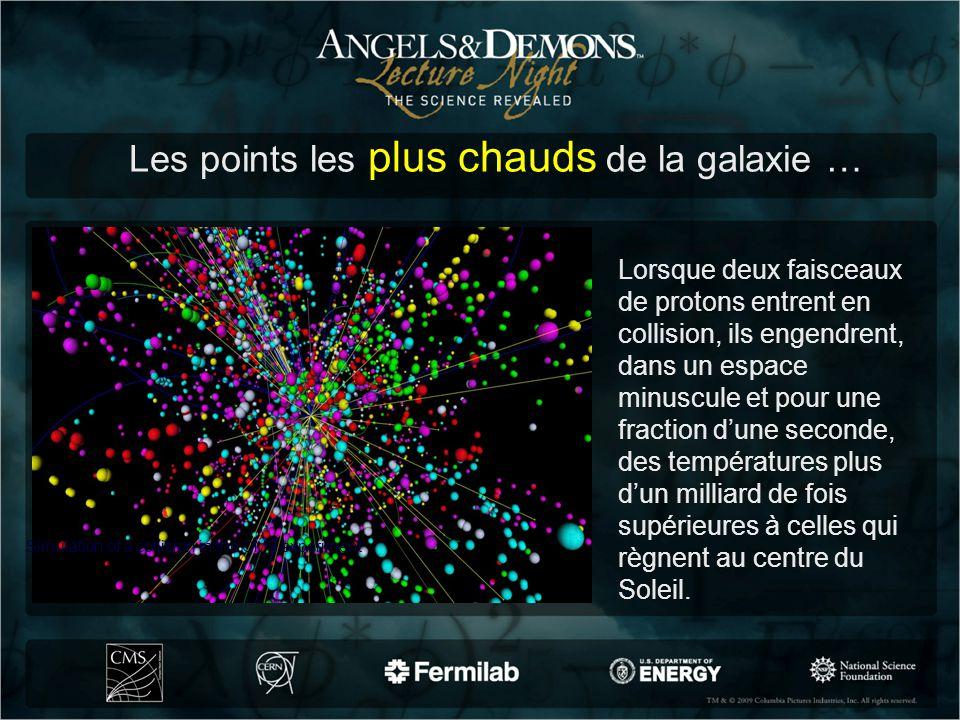 Lorsque deux faisceaux de protons entrent en collision, ils engendrent, dans un espace minuscule et pour une fraction dune seconde, des températures p