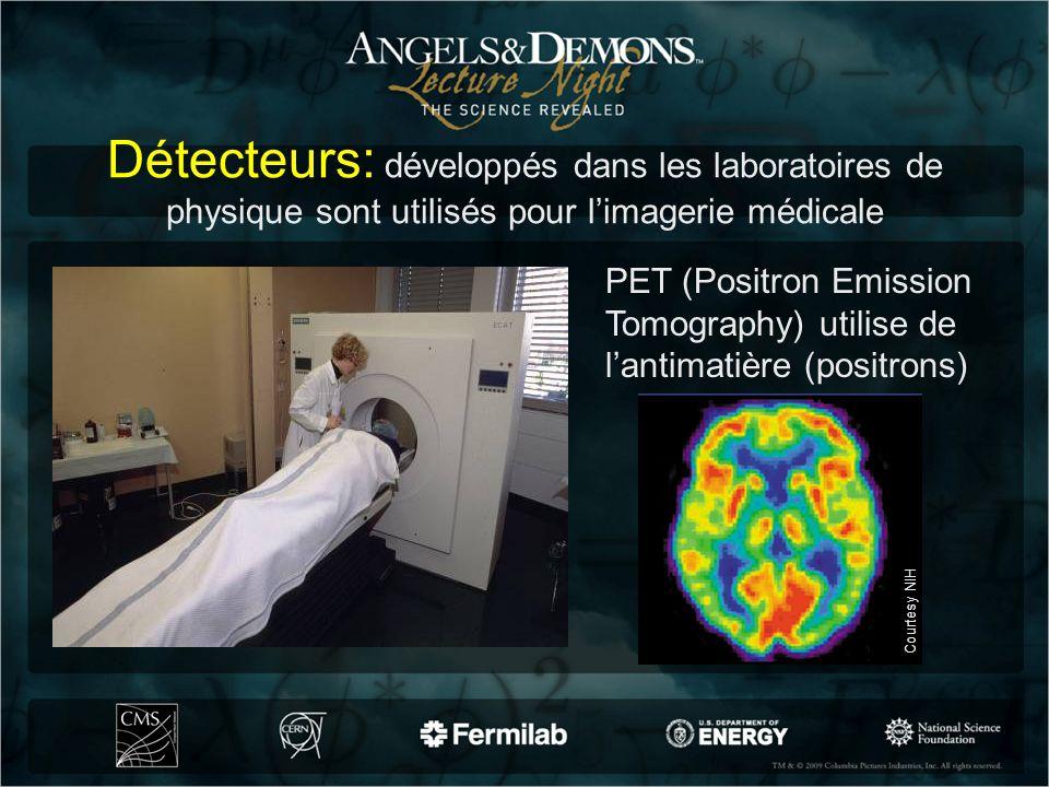 Détecteurs: développés dans les laboratoires de physique sont utilisés pour limagerie médicale PET (Positron Emission Tomography) utilise de lantimati