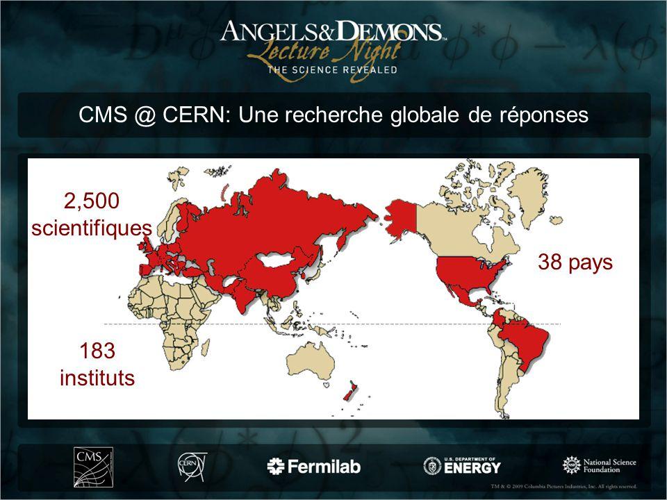 CMS @ CERN: Une recherche globale de réponses 2,500 scientifiques 183 instituts 38 pays