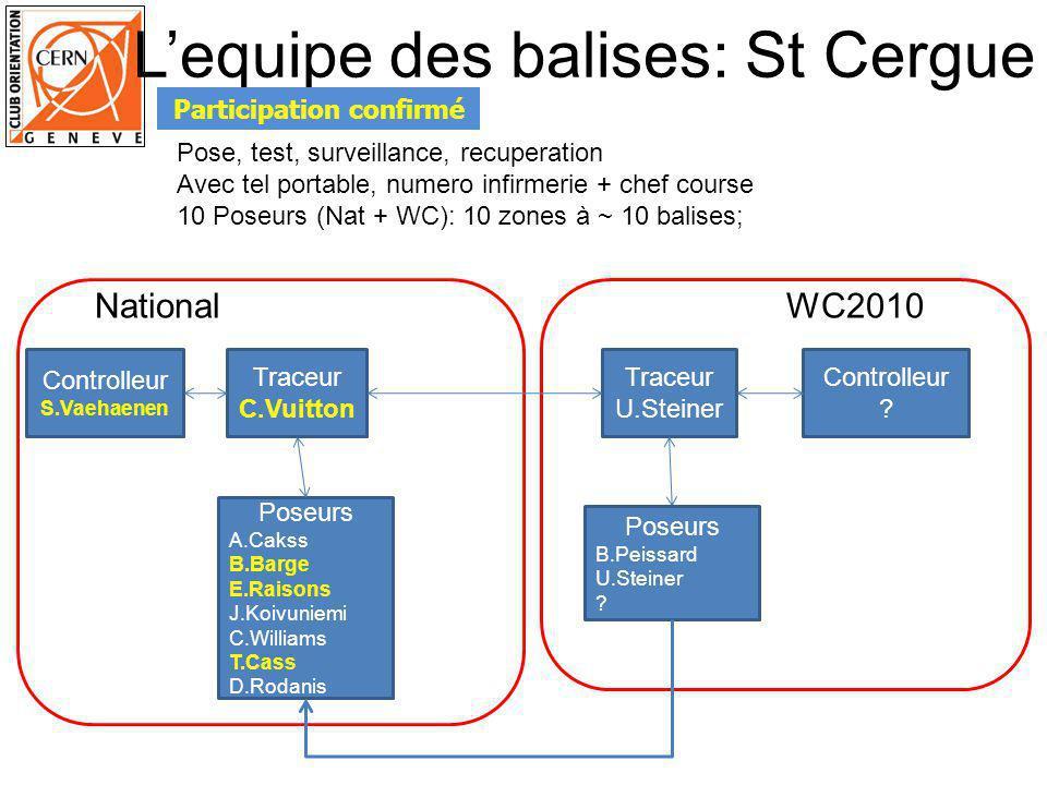 Traceur S.Vaehaenen Controlleur C.Vuitton Traceur S.Vaehaenen Controlleur B.Imhof Poseurs A.Cakss B.Barge E.Raisons J.Koivuniemi C.Williams T.Cass D.Rodanis WC2010National Surveillants Points crit.
