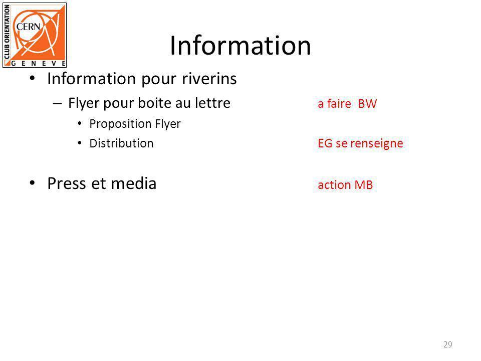 Information Information pour riverins – Flyer pour boite au lettre a faire BW Proposition Flyer Distribution EG se renseigne Press et media action MB